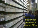 distribution frames of a central office
