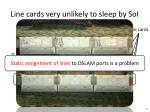 line cards very unlikely to sleep by soi