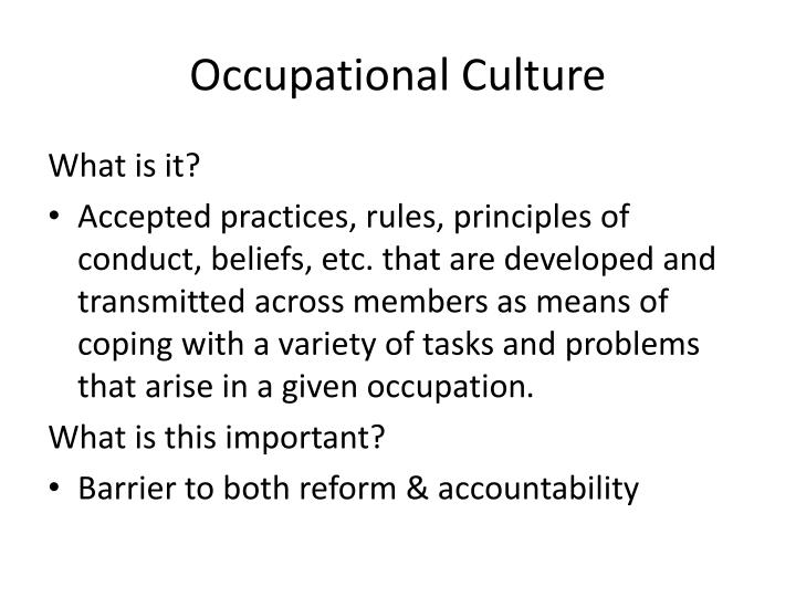 what about police culture differentiates it from other careers Find research information and videos about different career fields learn more about other jobs at the bureau of labor statistic's occupational outlook handbook animal care and science find career information about animal science and care architecture and engineering find careers in the.