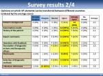 survey results 2 4
