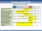 survey results 3 4