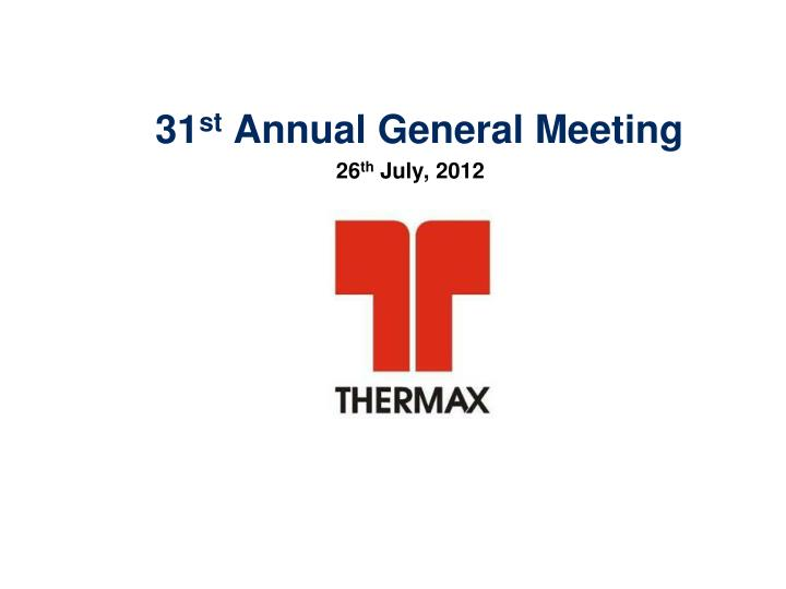 31 st annual general meeting n.