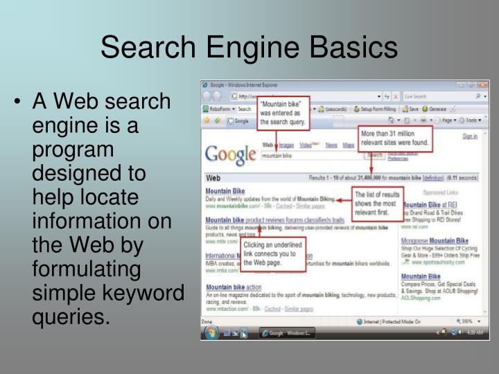 Search engine basics