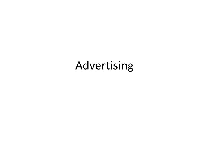 advertising research definition The application of the scientific method in searching for the truth about marketing a marketing research supplier that provides standardized information for.