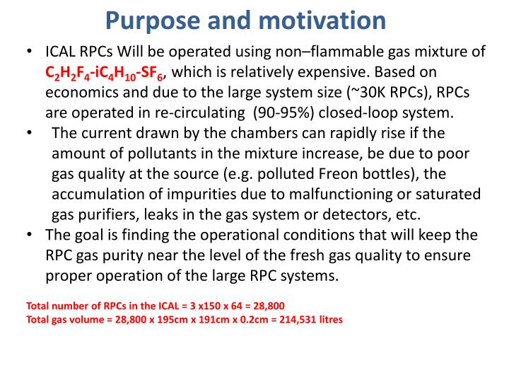Purpose and motivation
