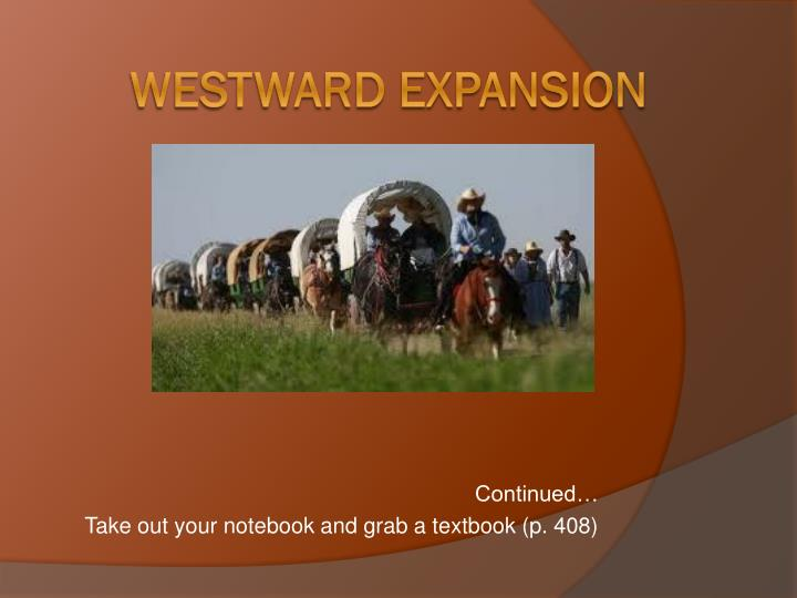 Continued take out your notebook and grab a textbook p 408