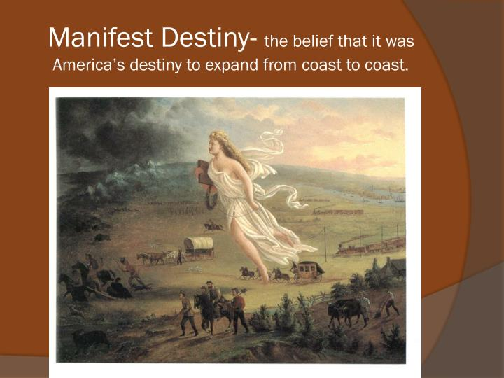 manifest destiny and the dances with America's westward expansion, the ghost dance and wounded knee manifest destiny is the biggest load of crap propaganda.