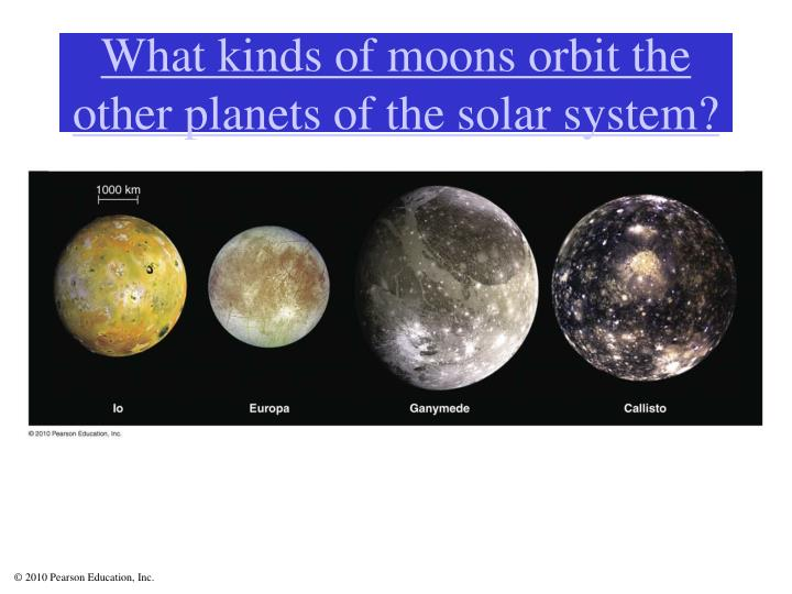 What kinds of moons orbit the