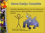game design complete