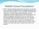 middle school foundation