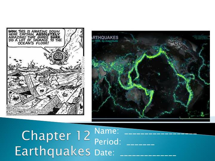 chapter 12 earthquakes n.