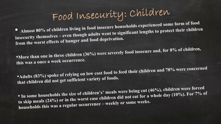 Food Insecurity: Children