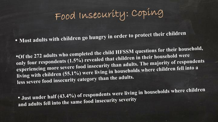 Food Insecurity: Coping