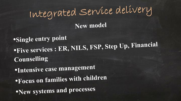 Integrated Service delivery