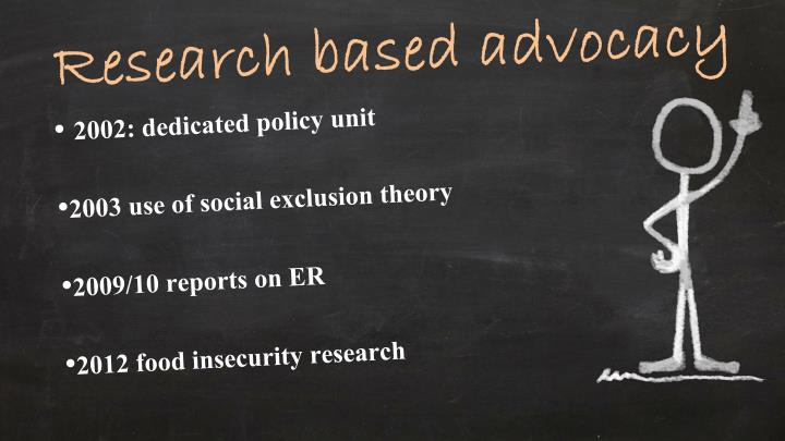 Research based advocacy