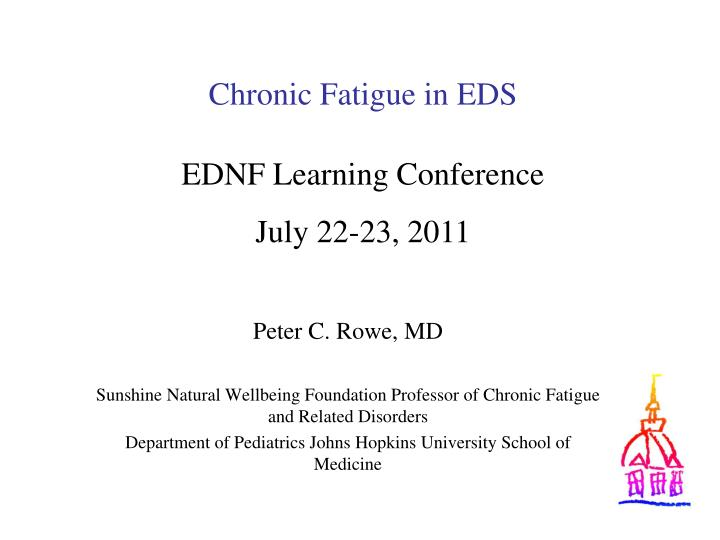 chronic fatigue in eds n.