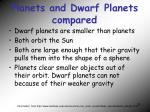 planets and dwarf planets compared