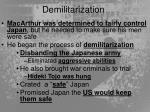 demilitarization