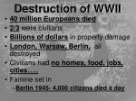 destruction of wwii