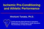 ischemic pre conditioning and athletic performance