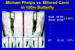 michael phelps vs milorad cavic in 100m butterfly