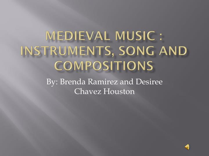 medieval music instruments song and compositions n.