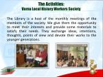 the activities varna local history workers society