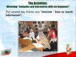 the activities workshop computer and information skills for beginners1