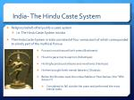 india the hindu caste system