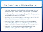 the estate system of medieval europe