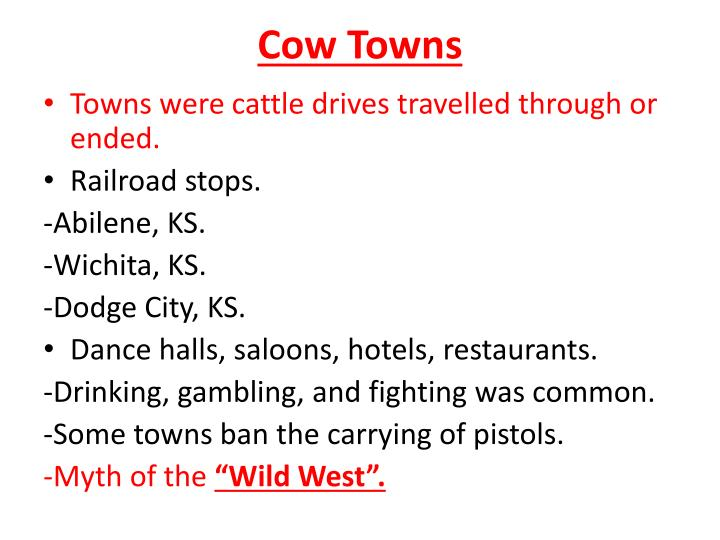 Cow Towns
