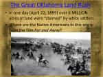 the great oklahoma land rush