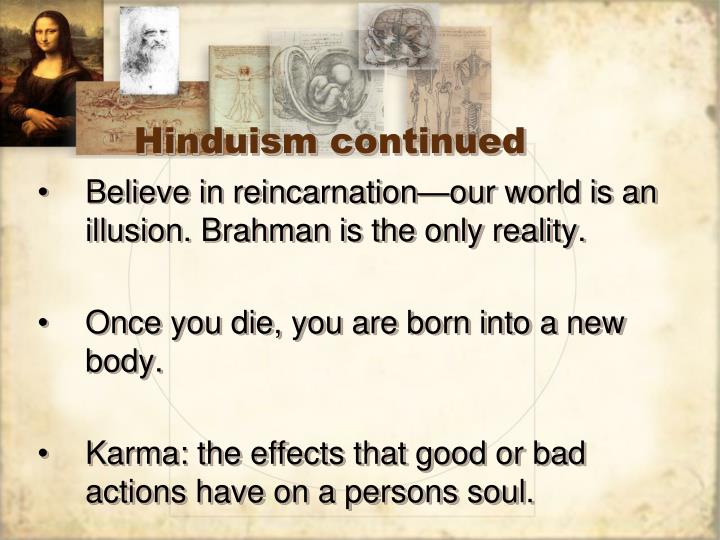Hinduism continued