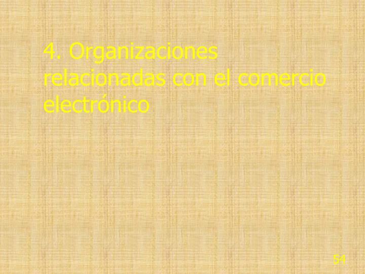 4. Organizaciones relacionadas con el comercio electrónico