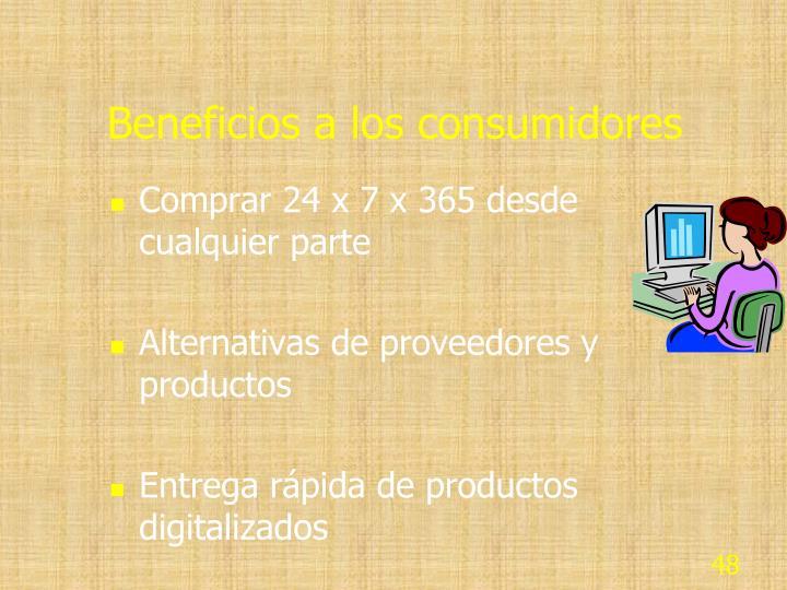 Beneficios a los consumidores
