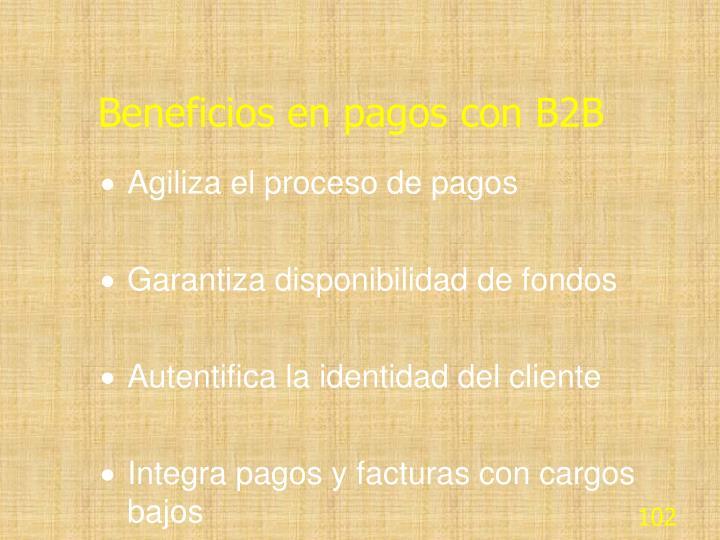 Beneficios en pagos con B2B