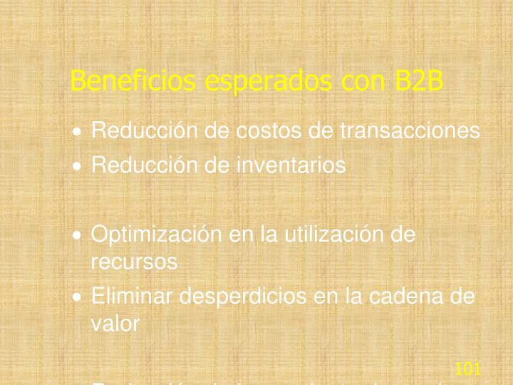 Beneficios esperados con B2B