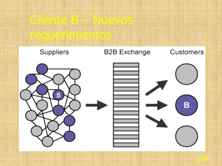 Cliente B – Nuevos requerimientos