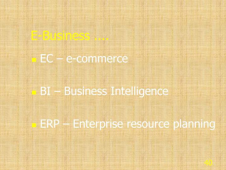 E-Business ....