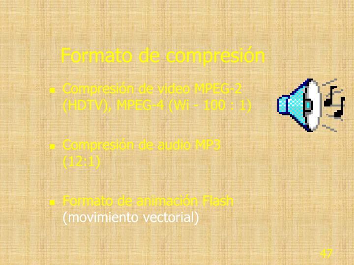 Formato de compresión