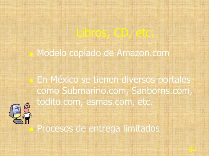 Libros, CD, etc.
