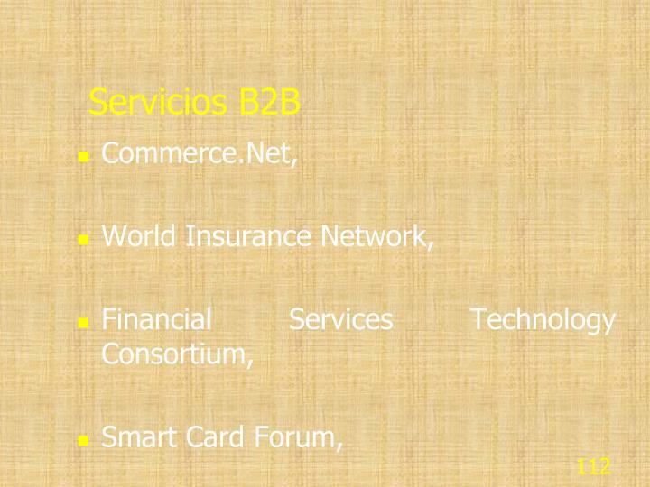 Servicios B2B