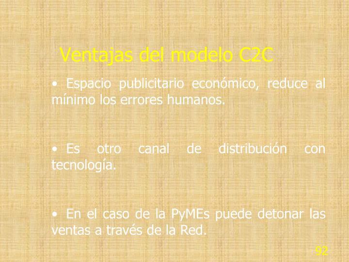 Ventajas del modelo C2C