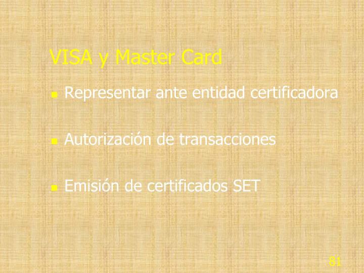VISA y Master Card