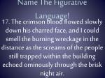 name the figurative language16