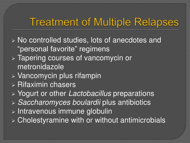 Treatment of Multiple Relapses