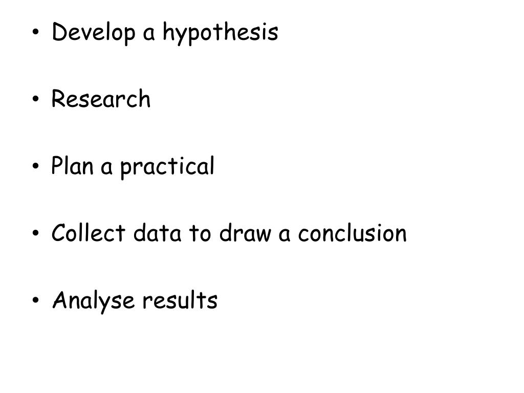 Ppt Develop A Hypothesis Research Plan A Practical Collect