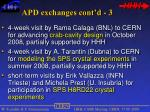apd exchanges cont d 3