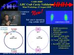 care hhh lhc crab cavity validation mini workshop 21 august 2008
