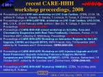 recent care hhh workshop proceedings 2008